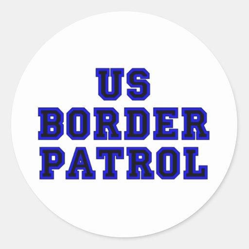 Patrulla fronteriza de los E.E.U.U. Pegatina Redonda