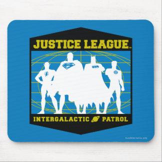 Patrulla intergaláctica de la liga de justicia alfombrilla de ratones