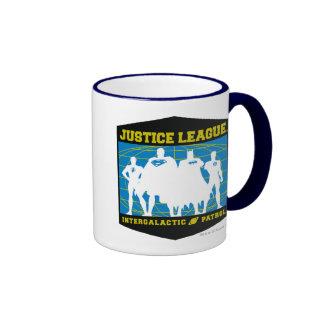 Patrulla intergaláctica de la liga de justicia taza de dos colores