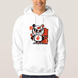 Patrulla loca de la deriva - panda agresiva (roja) jersey encapuchado