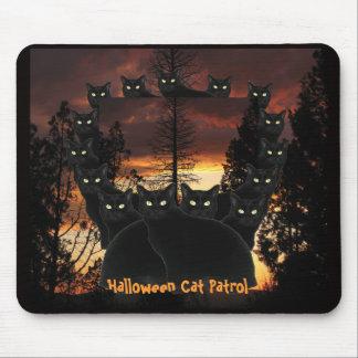 Patrulla Mousepad del gato negro de Halloween Alfombrilla De Ratones