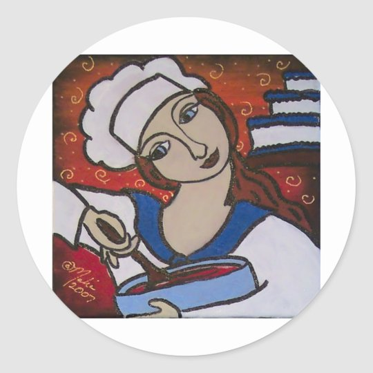 Patry Chef Classic Round Sticker
