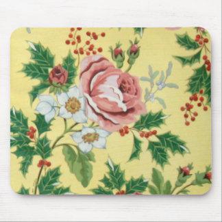 Pat's Floral Design Mouse Pad