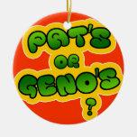 Pat's or Geno's? Christmas Ornament