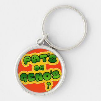 Pat's or Geno's? Keychain