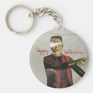 pats pics 046, Happy, Holloween, Basic Round Button Keychain
