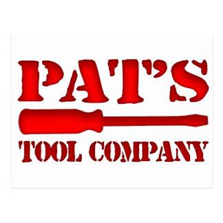 Pat's Tool Company Postcard