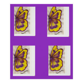 Pat's Yellow Butterfly Poster