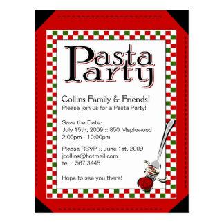 Patsa Party Invitation Post Card