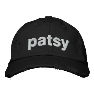 patsy embroidered baseball cap