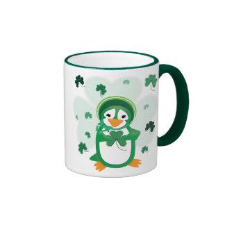 Patsy Penguin Kiss Me I'm Irish Mug
