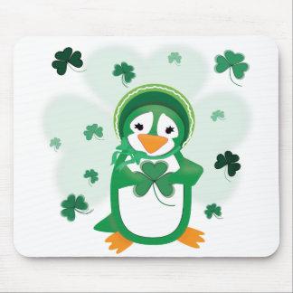 Patsy Penguin St. Patrick's Day Mousepad
