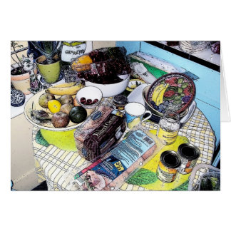 Patsy's Kitchen Table - Letter card
