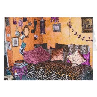 Patsy's Orange & Pink Card