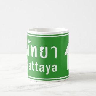 Pattaya Ahead ⚠ Thai Highway Traffic Sign ⚠ Mugs