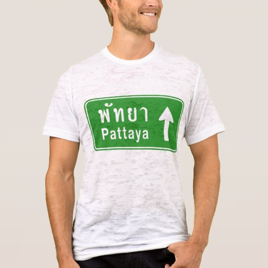 Pattaya Ahead ⚠ Thai Highway Traffic Sign ⚠ T-Shirt