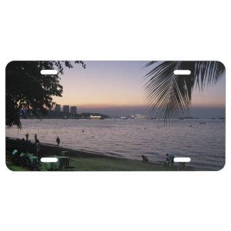 Pattaya Beach Sunset ... Chonburi, Thailand License Plate