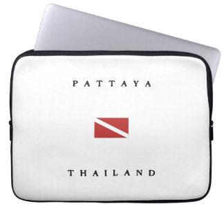 Pattaya Thailand Scuba Dive Flag Computer Sleeve