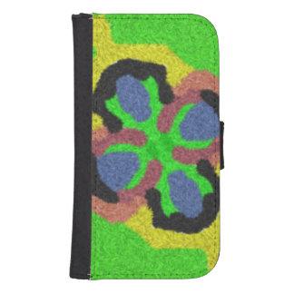 Patten abstracto colorido funda cartera para teléfono