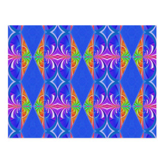 Patten blue pink created by Tutti Postcard