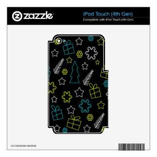 Patten mágico de Navidad Calcomanía Para iPod Touch 4G