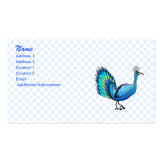 Patten Peacock Business Card Templates