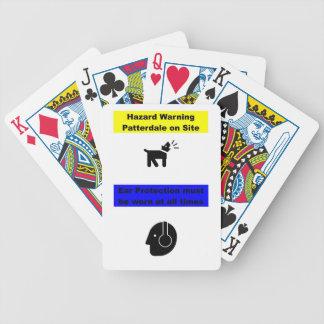 Patterdale Terrier Hazard Warning! Bicycle Playing Cards