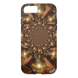 Patterm del diseño de la plata y del oro funda iPhone 7
