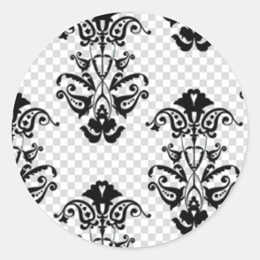 pattern1-1 pegatina redonda