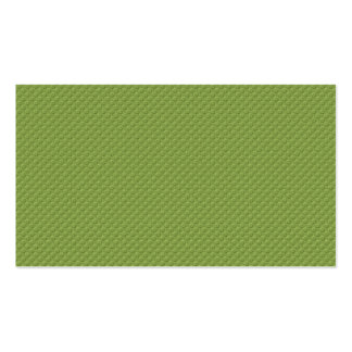 pattern36 EMBOSSED MEADOW CLOTH GREEN YELLOW PATTE Double-Sided Standard Business Cards (Pack Of 100)