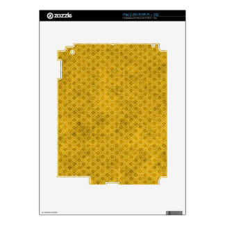 pattern74 HONEYCOMB YELLOW ORANGE DIAMOND SHAPES Skin For The iPad 2
