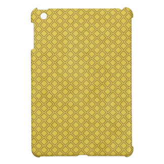 pattern74 YELLOW BROWN TILES SQUARES PATTERN TEMPL Cover For The iPad Mini