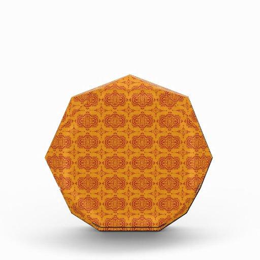 pattern77 DECORATIVE ORANGE ORANGE-RED PATTERN SCR Acrylic Award