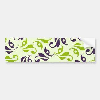 pattern79 PURPLE GREEN VINE SWIRLS PATTERN  TEXTUR Car Bumper Sticker