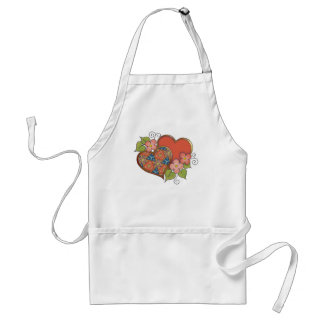 Pattern-016 Red Blue Gold Pattern Adult Apron