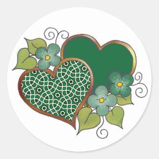 Pattern-019 Bottle Green Mesh Classic Round Sticker