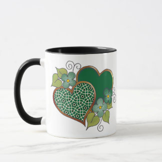 Pattern-019 Bottle Green Mesh Mug