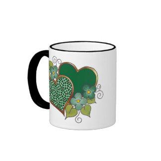 Pattern-019 Bottle Green Mesh Ringer Coffee Mug