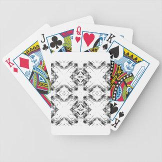 pattern 106 black bicycle playing cards