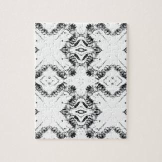 pattern 106 black jigsaw puzzle