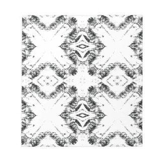 pattern 106 black note pad
