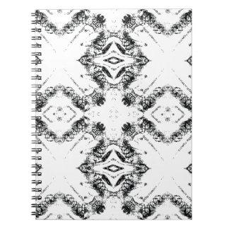 pattern 106 black notebook