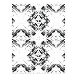 pattern 106 black postcard