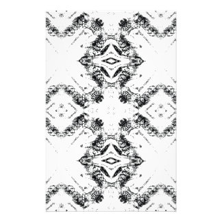 pattern 106 black stationery