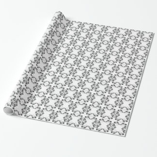 pattern 106 black wrapping paper