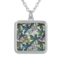 Pattern A Silver Plated Necklace