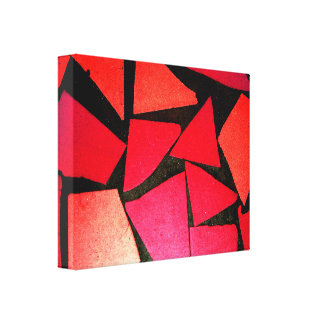 pattern abstract tiles red contrast color beauty canvas print