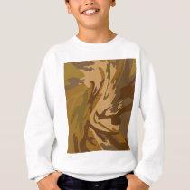 Pattern army style sweatshirt