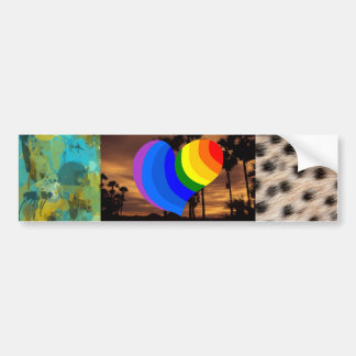 Pattern Art Digital Rainbow Peace Personalize Art Car Bumper Sticker