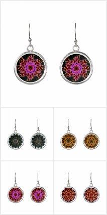 Pattern Art Drop Earrings